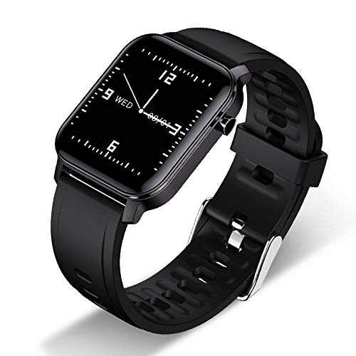 UIEMMY Orologio Intelligente Smartwatch da Donna IP68 Impermeabile 1.4 Full Touch Screen Frequenza cardiaca Sport Fitness Smartwatch Donna, Nero