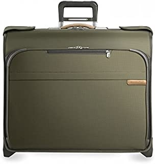 Briggs & Riley U176-7 Luggage Baseline Deluxe Wheeled Garment Bag, Olive, Small
