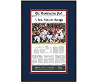 Framed Washington Post At Last Nationals 2019 World Series Champions 17x27 Baseball Newspaper Cover Photo Professionally Matted