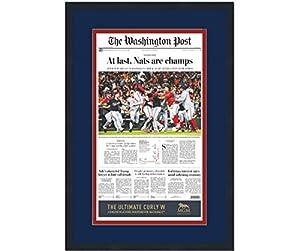 Framed Washington Post At Last Nationals 2019 World Series Champions 17x27 Baseball Newspaper Cover Photo Professionally Matted