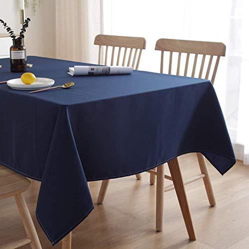 ENCOFT Tischdecke Rechteckige Abwaschbar Blau Polyester Tischtuch Wasserabweisend Geeignet für Home Küche Dekoration Verschiedene (Blau, 140 x 180 cm)