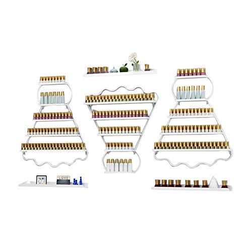 Support Mural pour Rack de Vernis À Ongles À 4 Niveaux,Boîte De Rangement pour Présentoir de Vernis À Ongles en Métal Support de Stockage D'huiles Essentielles/Parfums,Peut Contenir 110 Bouteilles