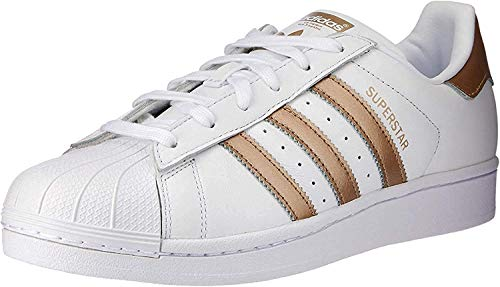 adidas Superstar, Zapatillas para Mujer, Blanco (Footwear White/Cyber Metallic/Footwear White 0), 37 1/3 EU