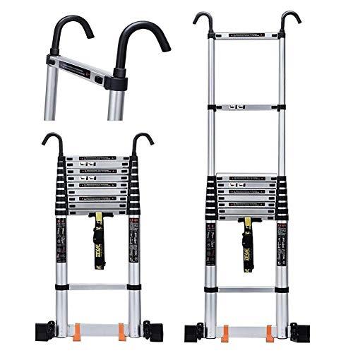 LXDZXY Escaleras, Polea Telescópica Extensión de Aluminio con Ganchos de Techo Climb...