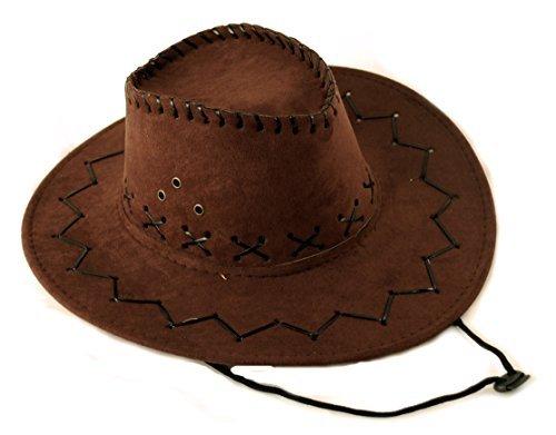 Scherzwelt Dunkelbrauner Western Cowboy Hut - Westernhut Fasching Western Hut