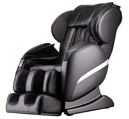 XXL Luxus Designer-Massagesessel Shiatsu Heizung Chefsessel +Massage Relaxsessel schwarz