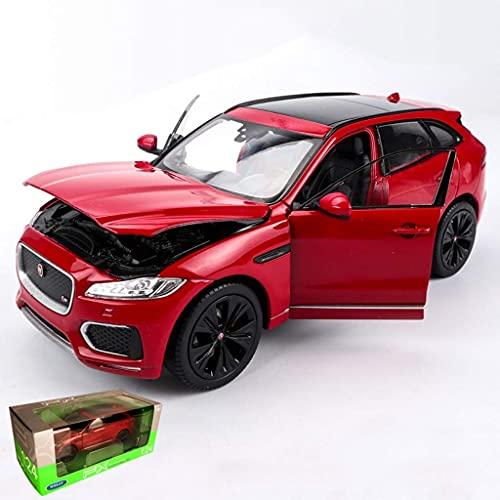 min min 1:24 Jaguar F-Pace Off-Road Coche Modelo Simulación Metal Car Modelo Adornos Regalo (Color: Rojo) (Color : Red)