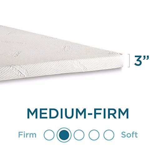 Tempur-Pedic TEMPUR Supreme 3-Inch Mattress Topper, Medium Firm, Queen, White