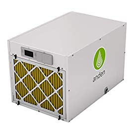 Anden / Aprilaire Grow-Optimized Industrial Dehumidifier, 210 Pints/Day 240v, White 5 Better. Removes up to 3 liters per kilowatt hour, for maximum energy efficiency. Faster. Quickest commercial dehumidifier to reach peak power for maximum moisture removal. Smarter. Most intelligent dehumidifier in its class, with on-board and remote monitoring, sensing & diagnostics.