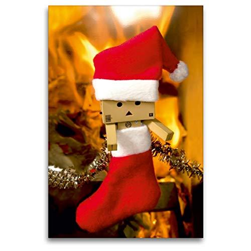 Premium Textil-Leinwand 80 x 120 cm Hoch-Format Weihnachtssocke | Wandbild, HD-Bild auf Keilrahmen, Fertigbild auf hochwertigem Vlies, Leinwanddruck von Natalie Moßhammer