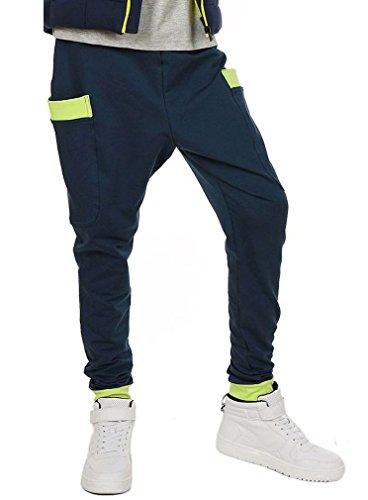 Dykmod 116-158 - Pantaloni da ragazzo Skate Chino Scuola Baggy Blu scuro 13 anni