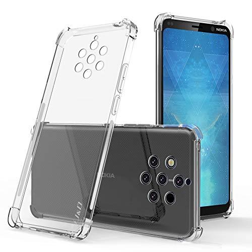 JD Compatibile per Nokia 9 PureView Cover, [Cuscinetto Angolare] [Peso Leggero] [Ultra-Chiaro] Urto Resistente Protettiva Snella Silicone Respingente Custodia per Nokia 9 PureView