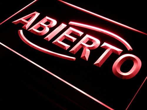 ADVPRO Cartel Luminoso i535-r Abierto Food Cafe Restaurant