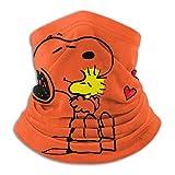 Snoopy Woodstock Love Microfibra Calentador de cuello Estudiante de enfermería Polaina de cuello Tubo Calentador de oído Diadema Bufanda Mascarilla