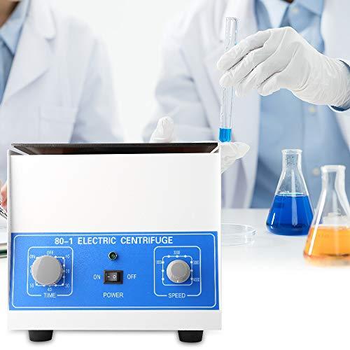 Kacsoo Elektrischer Labor-Steinguss-Entsafter 4000 U/min, 6 x 20 ml, mit Timer 0-60 min und Geschwindigkeitskontrolle