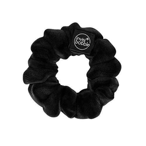 invisibobble Haargummi Schwarz Scrunchie True Black, Haargummis starker Halt für Mädchen & Damen, Scrunchies Samt Schwarz, designed im Herzen Münchens