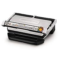 Rowenta GR722D Optigrill+ XL Bistecchiera Intelligente con 9 Programmi di Cottura Automatici, Nero / Argento 48x37.5x23cm