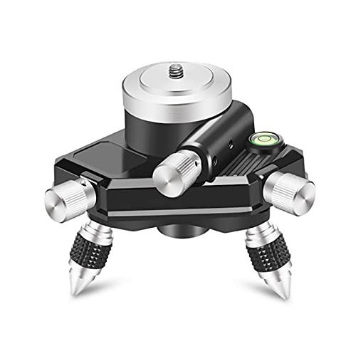 SSXPNJALQ Instrumento de Adaptador de Nivel láser 360 Grados Micro-Ajuste de Micro ajustamiento para Mover el trípode de Nivel aplicable de la Base aplicable (Color : As Shown)