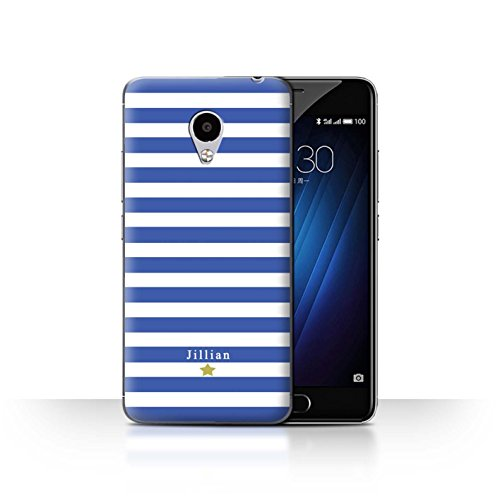 Stuff4Phone Case/Cover/Skin/mzum3s/Custom Stripes/Striped Collection Étoile Rayure Bleu