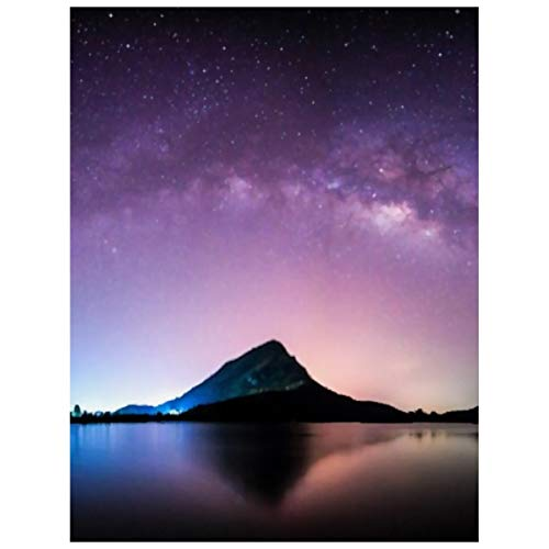 5d Diy Diamond Art Kits For Adults Night Landscape Mountain Milkyway Galaxy Background Large Diamond Painting Diamond Paintings Cross Stitch Full Drill Arts Craft Canvas Wall Decor(20X30cm)