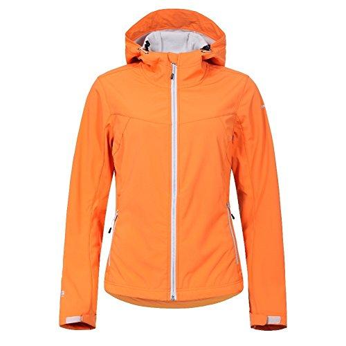 Icepeak Damen Softshelljacke Lucy, Farbe:Orange;Bitte Größe wählen:34