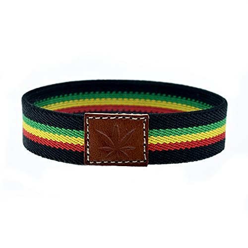 Pulsera Rasta, Bob Marley, Cinta Rastafari con la Hoja de Marihuana