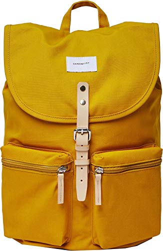 Sandqvist Roald Rugzak Yellow/Natural Leather