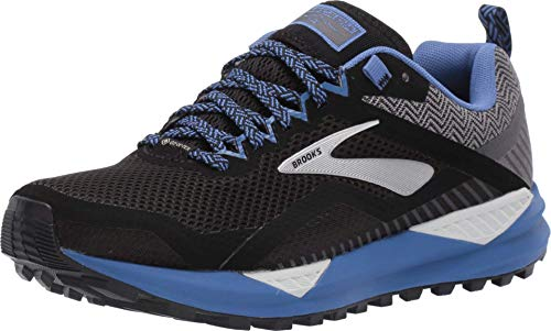 Brooks Cascadia 14 GTX, Zapatillas de Running para Mujer, Negro (Black/Grey/Blue 053), 38.5 EU
