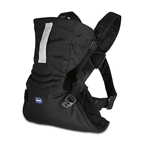 Chicco Easy Fit Mochila ergonómica portabebé, hasta 9 kg, color negro (Black Night)