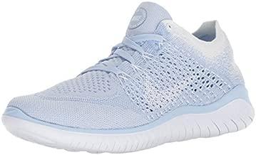 Nike Women's Free RN Flyknit 2018 Hydrogen Blue/White-White 7.5