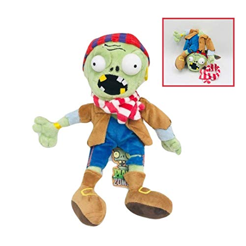 New Plants vs Zombies Plush Baby Toy PVZ Stuffed Toy with Detachable Parts for Kids (Pirate)