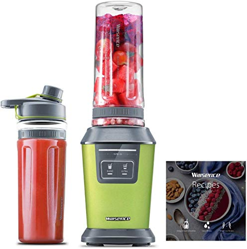 Image of Willsence Blender Personal Smoothie Blender(Recipe Book Included), 700 Watts Intelligent Nutri-iQ System, 6 Stainless Steel Blades for Shake and Smoothie Maker, Ice Crusher, 2 x 20 oz Travel Cups: Bestviewsreviews