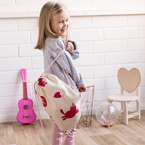 snugo Saco de algodón bioorgánico para niños, fabricado en Alemania, 140 cm, para almacenamiento de la habitación de los niños, alfombra de juego (adecuado con: bolsa de deporte Fantasy)