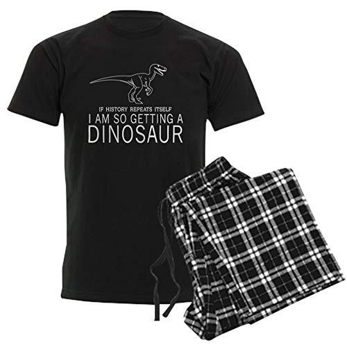 CafePress History Repeats Dinosaur Pajamas Unisex Novelty Cotton Pajama Set, Comfortable PJ Sleepwear