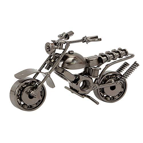 Eisen Motorrad Modell, Retro Motorräder Modell, Motorradmodell kreative Handwerk Geschenk, für Foto Requisiten, Kunstsammlung, Desktop-Dekoration (Silber)