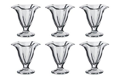 6unidades de copas Pasabahce Canada 51068fabricadas en vidrio. Para hielo, postre, postres, decoración, de cristal, y mucho más. Altura 11,8cm, capacidad 180ml, apto para lavavajillas y microondas. Tamaño Ø 11,6cm (arriba), Ø 7cm (abajo). Paşab...