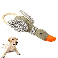 RUIMA ロープでぬいぐるみ犬のおもちゃSqueakのアヒル耐久性のある36 * 14センチメートル 噛むおもちゃ