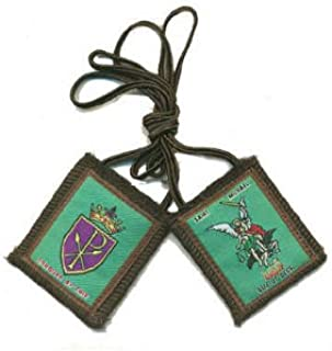 Saint Michael Wool Scapular Vatican Approved 100% Wool & Hand- Made in USA