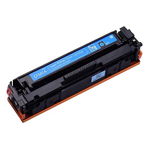 Fesjoy Cartucho de tóner, Cartucho de tóner Compatible con Compatible con HP Color Laserjet Pro M254dw / M254nw / MFP M280nw / MFP M281fdn / MFP M281fdw (Cian, Paquete de 1)