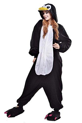 Venaster Jumpsuits, Cosplay Pyjamas Schwarz Pinguin Erwachsene Unisex Animal Cosplay Overall Pajamas Anime Schlafanzug Spielanzug Kostüme