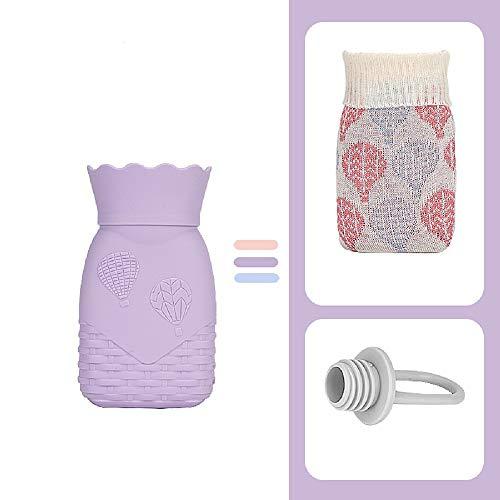 Bottiglia di acqua calda,scaldamani in silicone sicuro senza microonde BPA con coperchio,terapia a freddo caldo,festival di compleanno regalo di Natale per bambini madre figlia figlia