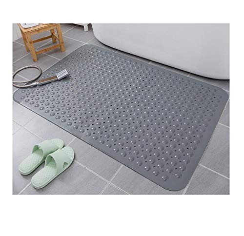 Badmatten, badmatten, toiletmatten van kunststof, anti-valmatten voor thuisbadkamers-58 × 88 cm_Grijs