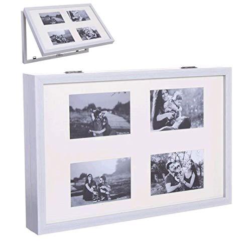 Dream Hogar Tapa de Contador de luz Cubre Cuadros electricos multifoto Blanco plastico 48x32x7 cm