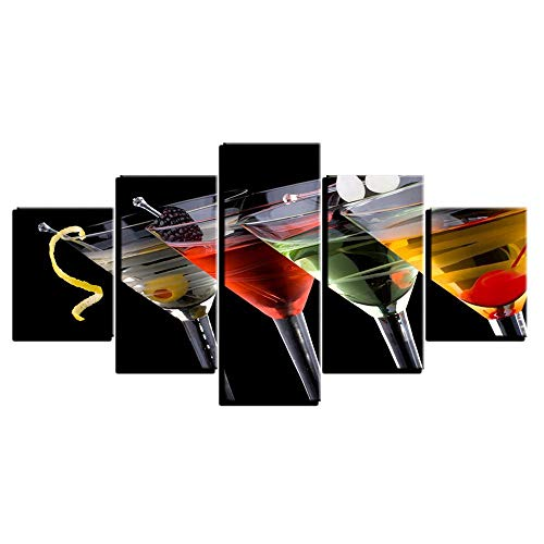ZY&ZQ Canvas Wall Art Modern Art Home Slaapkamer Versier Schilderij Print Fruit Wijnglas