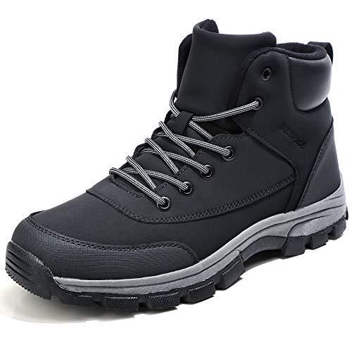 [SIXSPACE] スノーブーツ メンズ 防水 防滑 防寒靴 スノーシューズ ワークブーツ 登山靴 アウトドアシューズ トレッキングシューズ ブラック 29.5cm