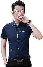 IndoPrimo Men's Regular Fit Cotton Casual Half Sleeve Shirt