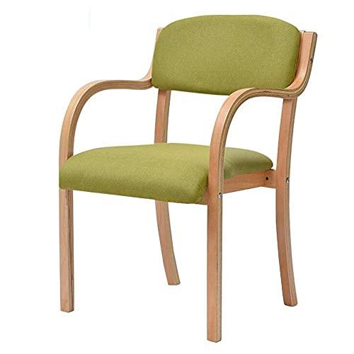 XCY Bekväma och hållbara matstolar i massivt trä fåtöljer bekväma stoppade stapelbara ryggstöd bord stol kök vardagsrum T5
