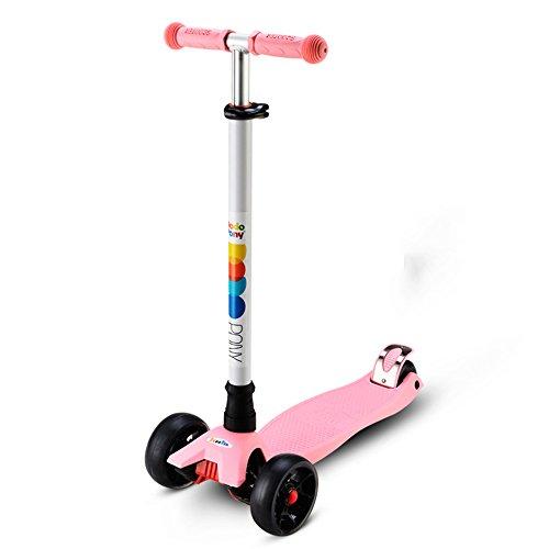 JZM Roller Per Bambini Roller Per Bambini Ein Tre Ruote Per Uomo E Donna,Pink