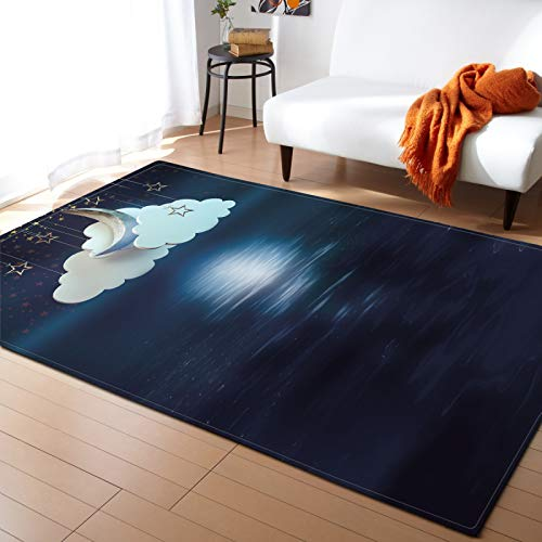 Michance Thicken Non-Slip Foldable Carpet Children'S Illustration Pattern Foot Pad Suitable For Baby Room, Children'S Room, Playground, The Foot Pad Will Not Shed Hair