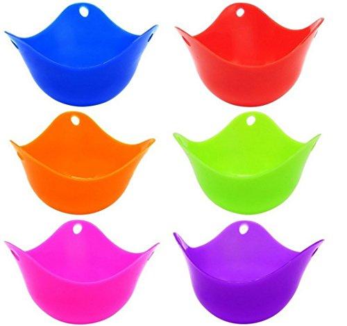 Silicone Oeuf Braconnier Tasses-Set De 6 BPA Sans Cuisson Antiadhésive Parfaite Oeufs Pochés-Haute Résistance À La Chaleur Micro-Ondes Ou Cuisinière À Oeufs Cuiseur À Oeufs